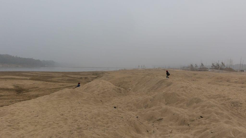 Sands in the Someshwari River in Birishiri