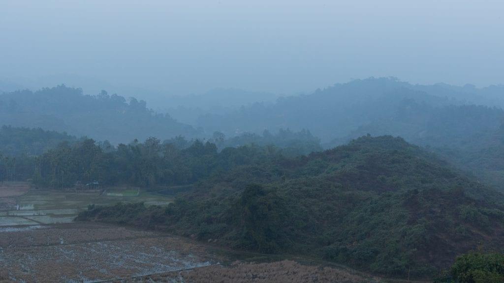 View from top of Mountain in Birishiri in Netrokona