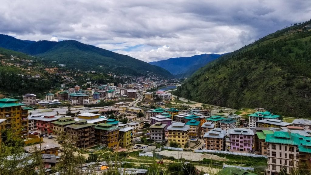 Beautiful Thimphu in Bhutan