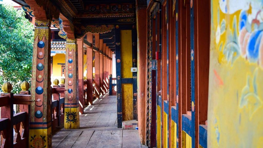 First floor of Punakha Dzong