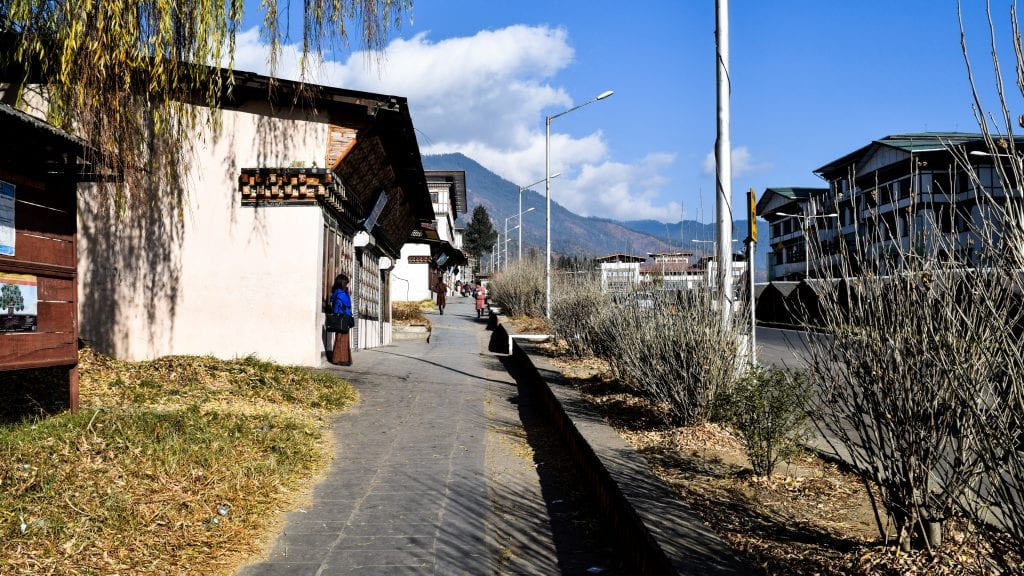 Footpaths of Thimphu Bhutan