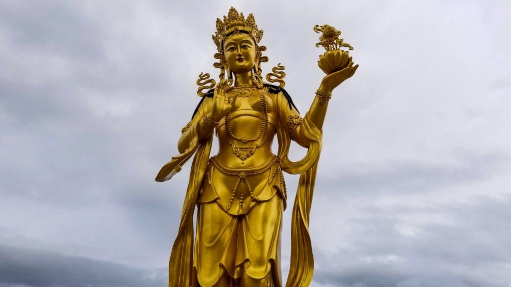 Gold Statue in Buddha Dordenma Bhutan