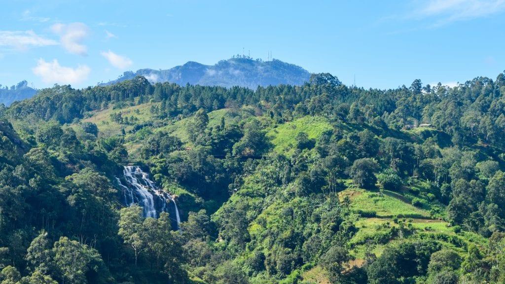 A Waterfall in Ella, Sri Lanka