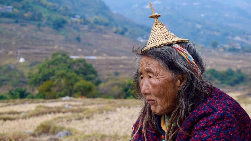 Old Lady Punakha Portrait Photography