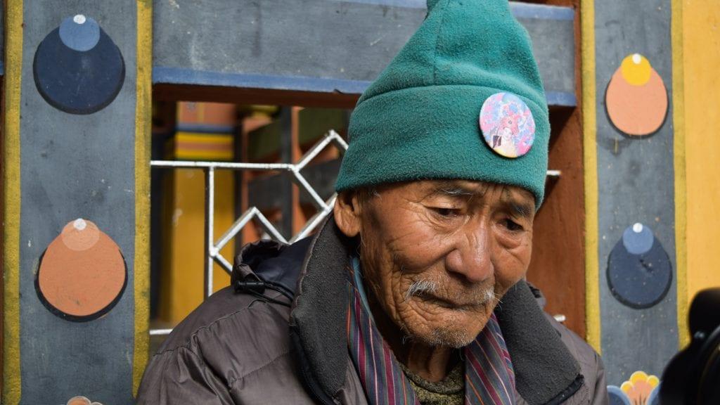 Old Man Portrait Photography in Bhutan