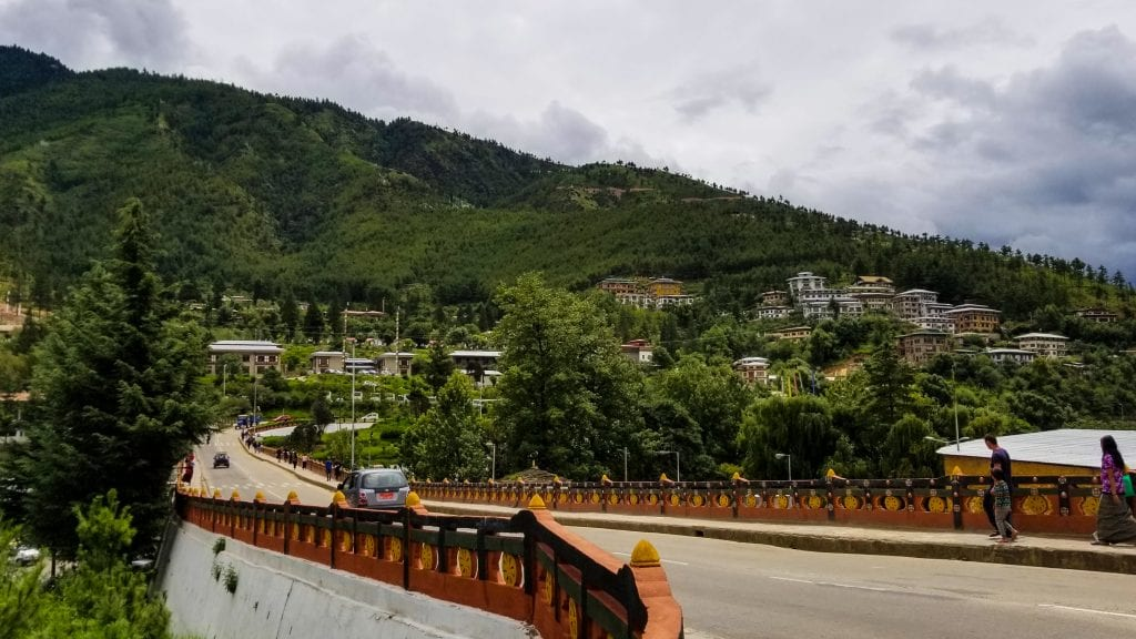 Curvy Road in Thimphu