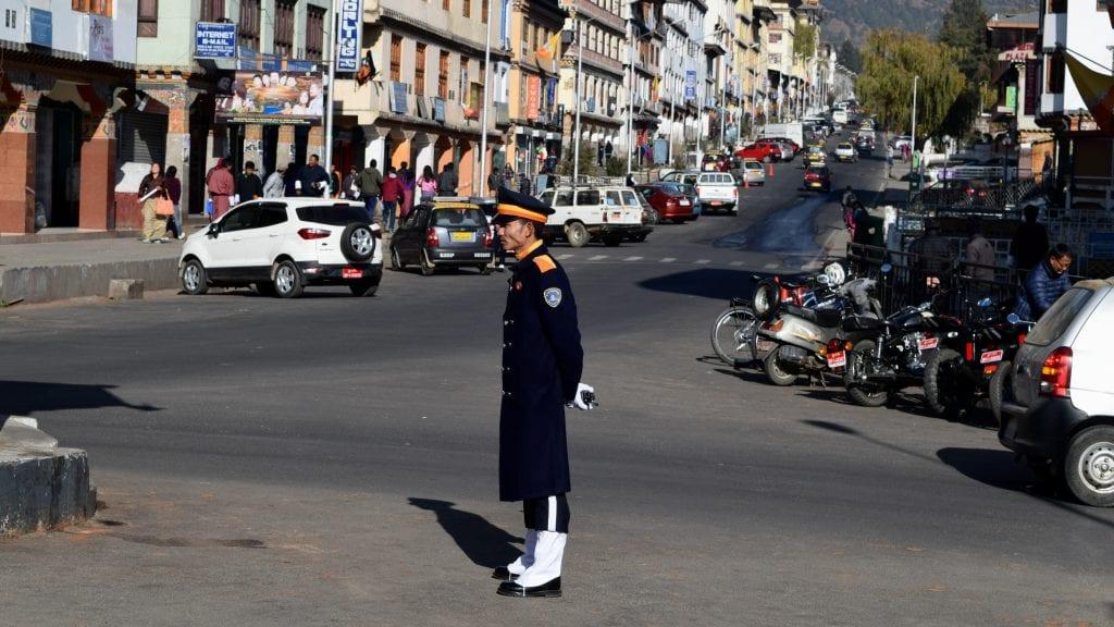Traffic Police in Bhutan