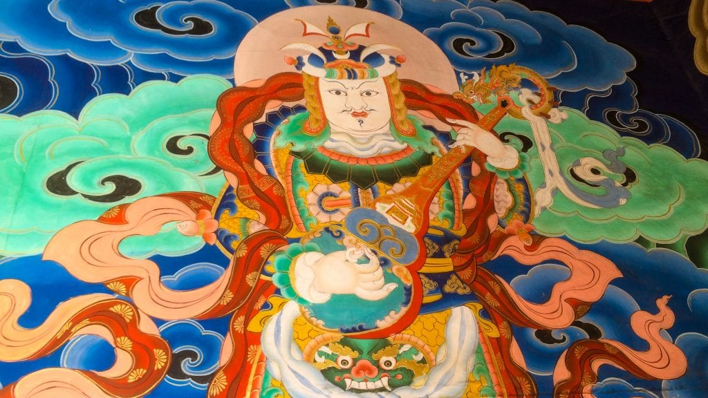 Wall Painting of Punakha Dzong is one of the most beautiful places to visit in Punakha