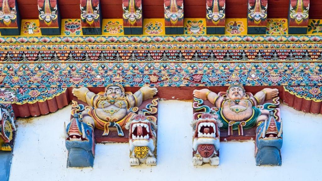 Artworks in Gangtey Monastery