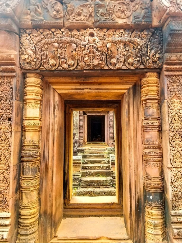 Door of Banteay Srei Temple
