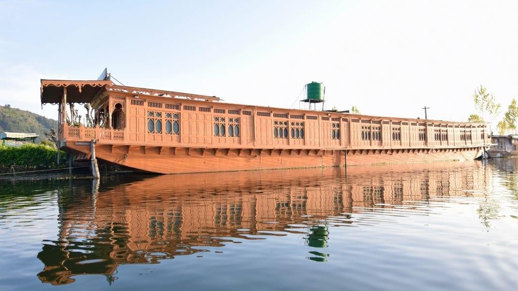 Big Houseboat in Dal Lake, Kashmir