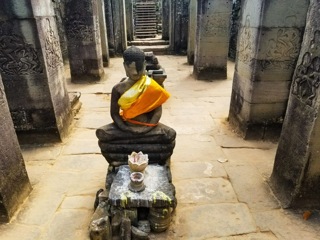 Mediating Buddha in Bayon Temple