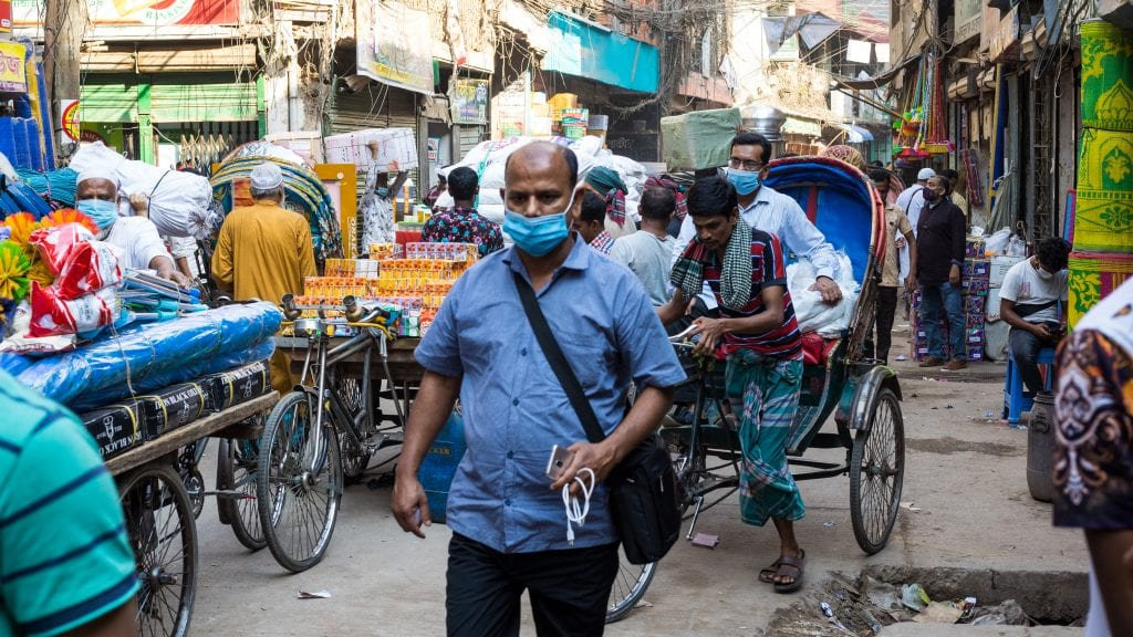 Busy Old Dhaka Street