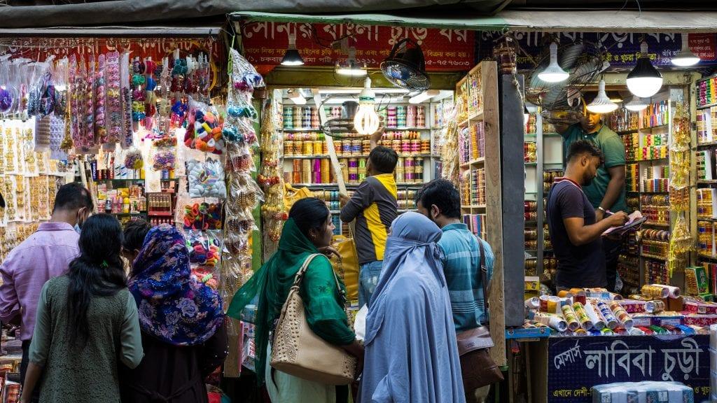 Colorful Bangle Shop in Old Dhaka