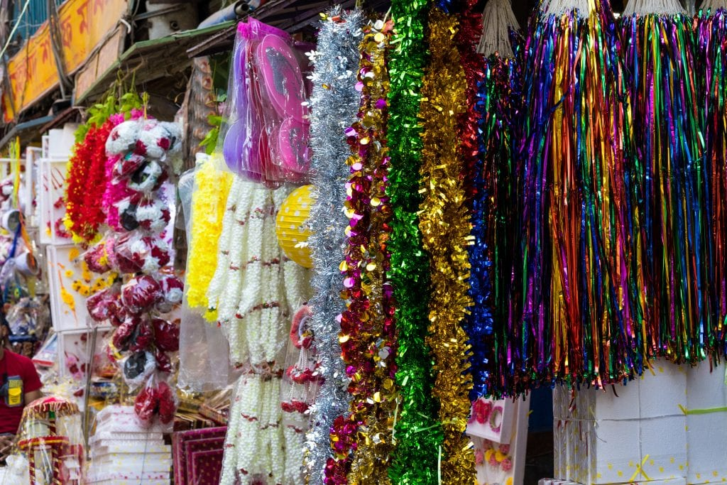 Colorful Decorative Pieces on display in Old Dhaka