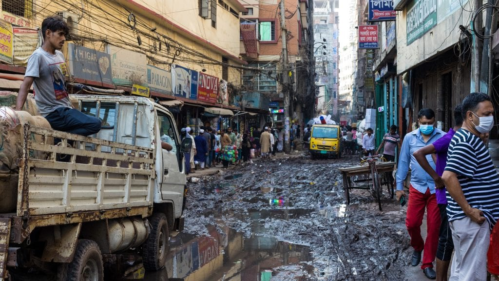 Dirty Road in Old Dhaka