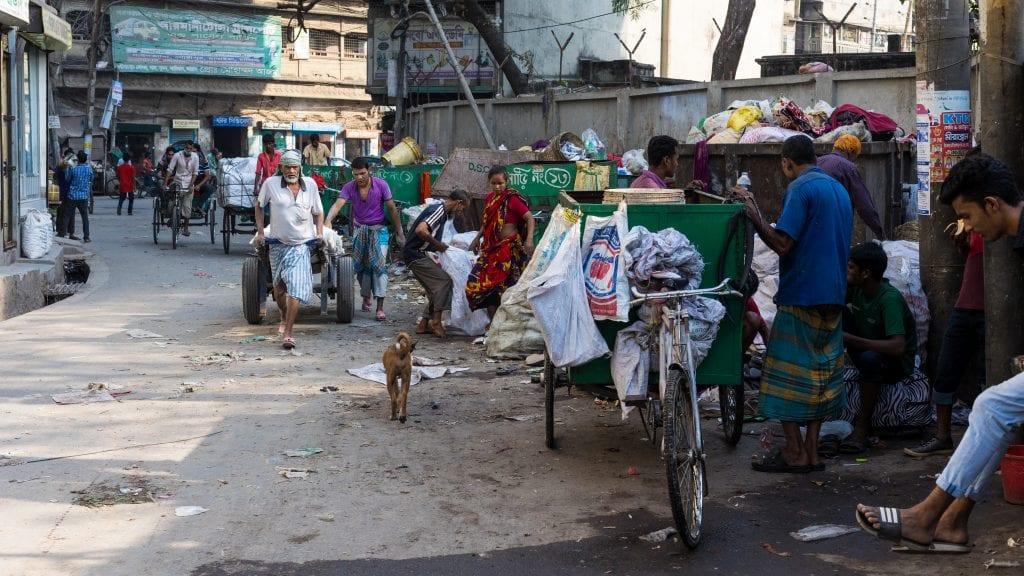 Dustbins in Old Dhaka