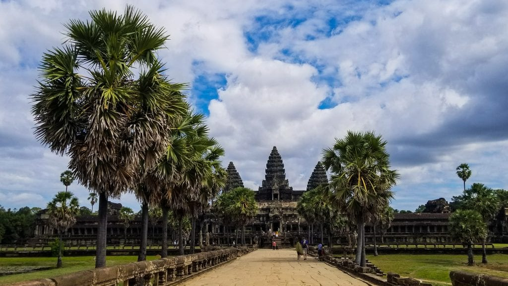 Front view of Angkor Wat - Temples of Siem Reap
