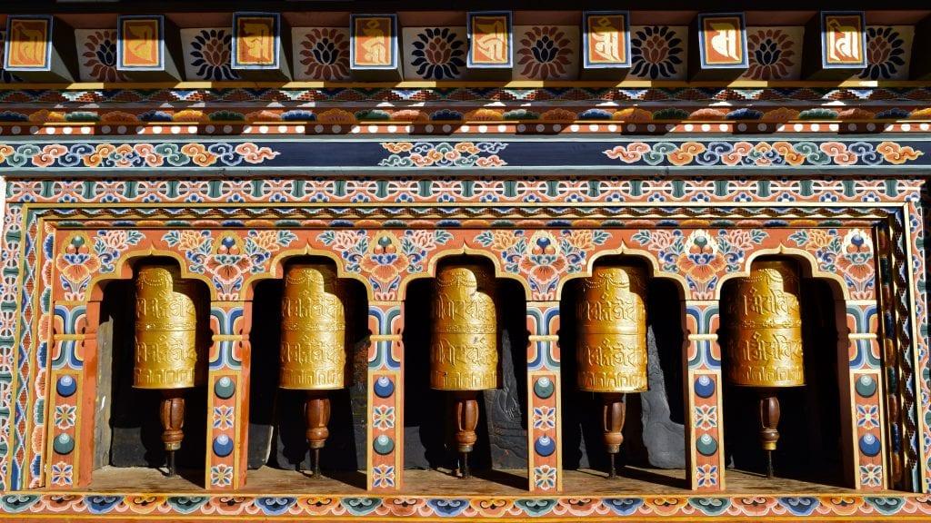 Gangtey Monastery Prayer Wheel