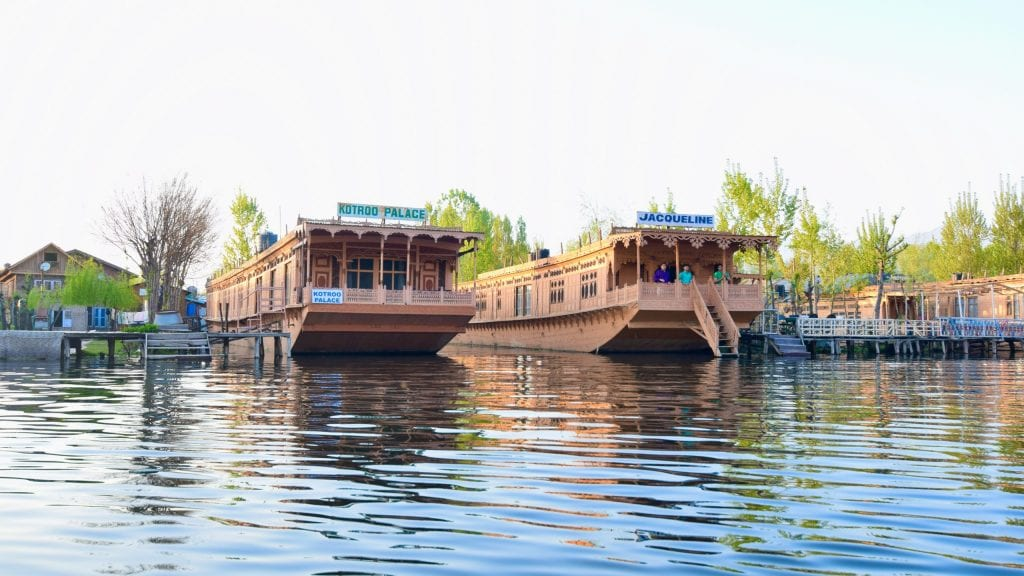 Houseboats in Dal Lake, Kashmir