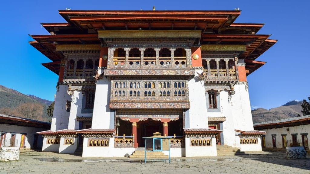Main Building of Gangtey Monastery