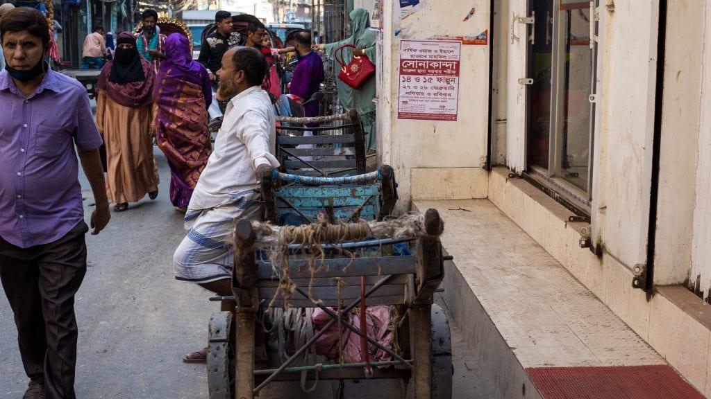 Manual Pulling Cart in old Dhaka