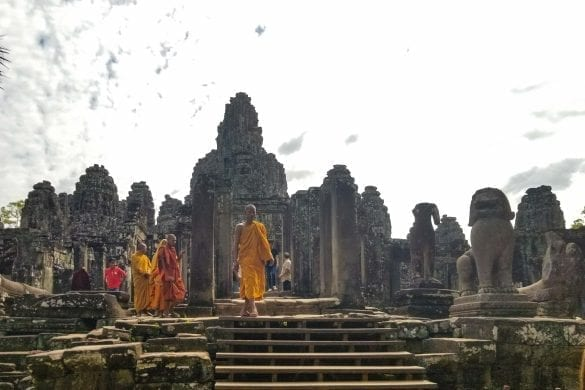 Monks in Bayon Temple