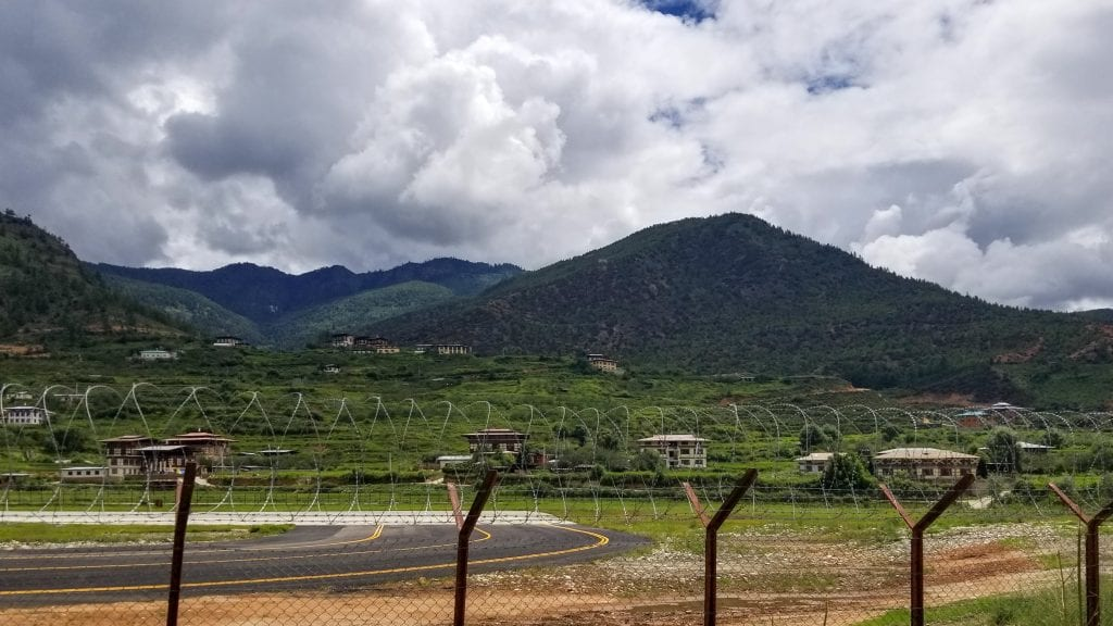 Paro Airport as seen from Outside