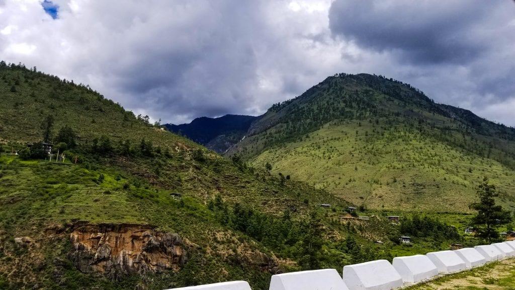 Paro Thimphu Highway in Bhutan