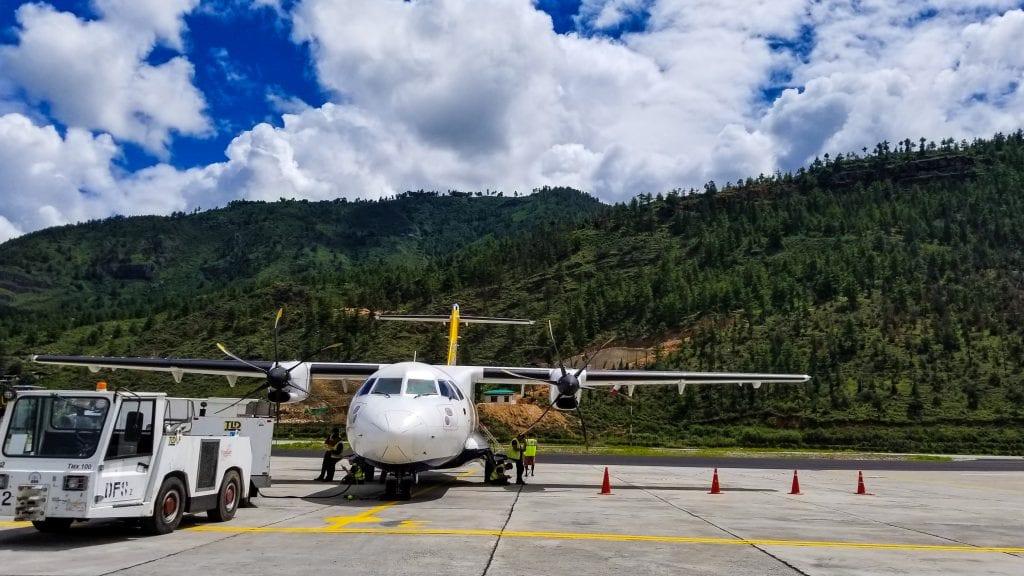 Aeroplane in Paro Airport