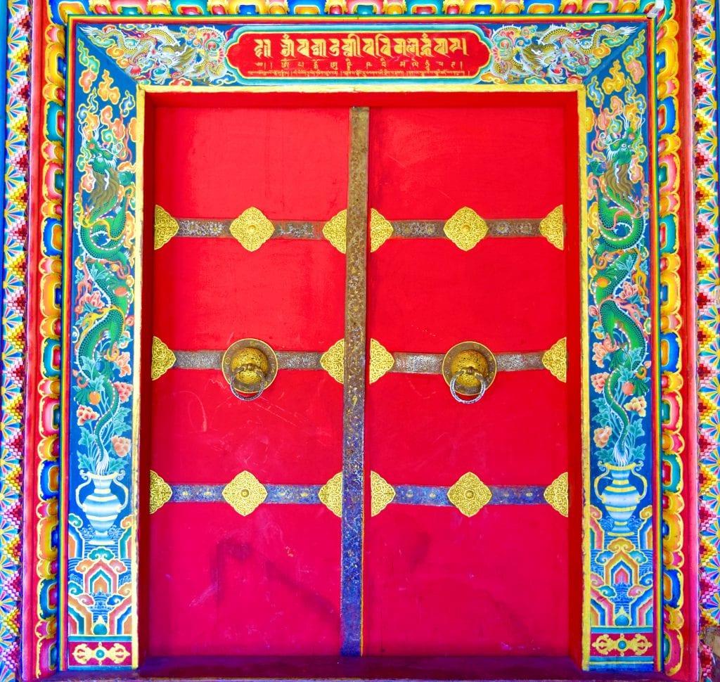 Beautiful Red Door in Bhutan