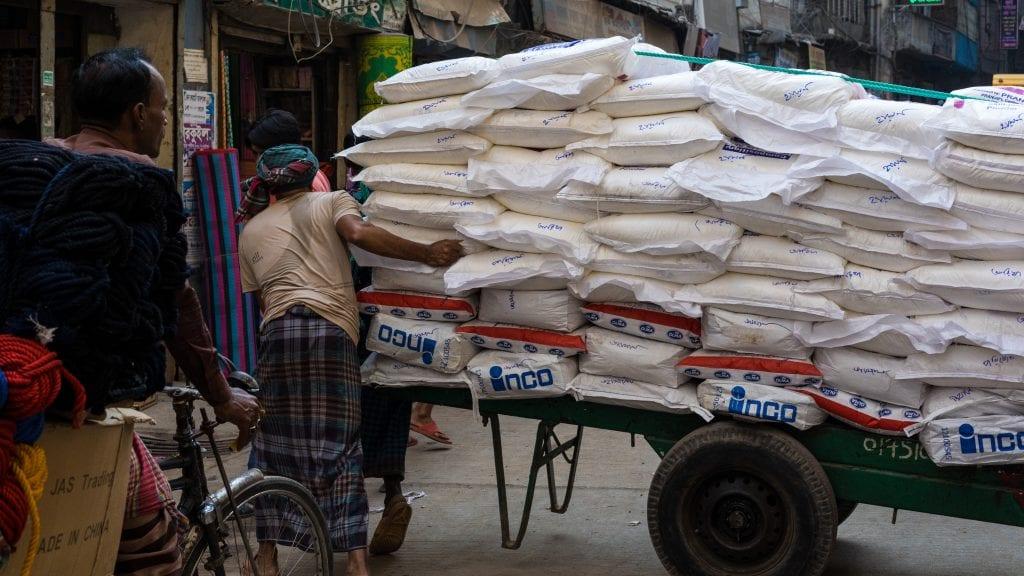 Road Blocked By Vehicle Old Dhaka