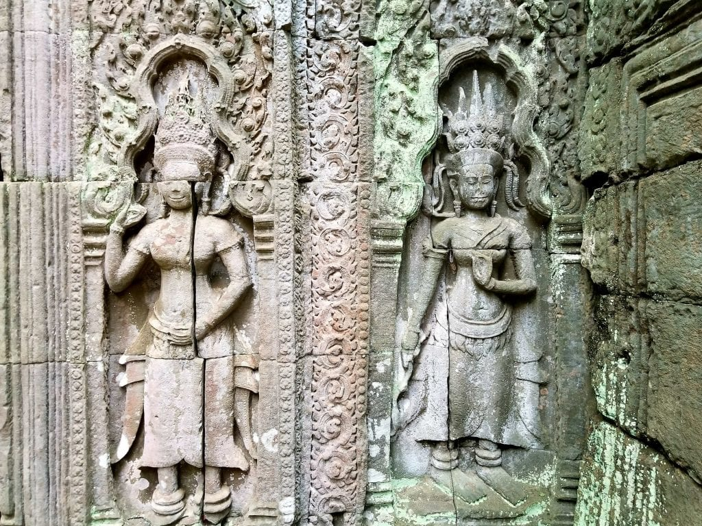 Sculpture in Ta Prohm