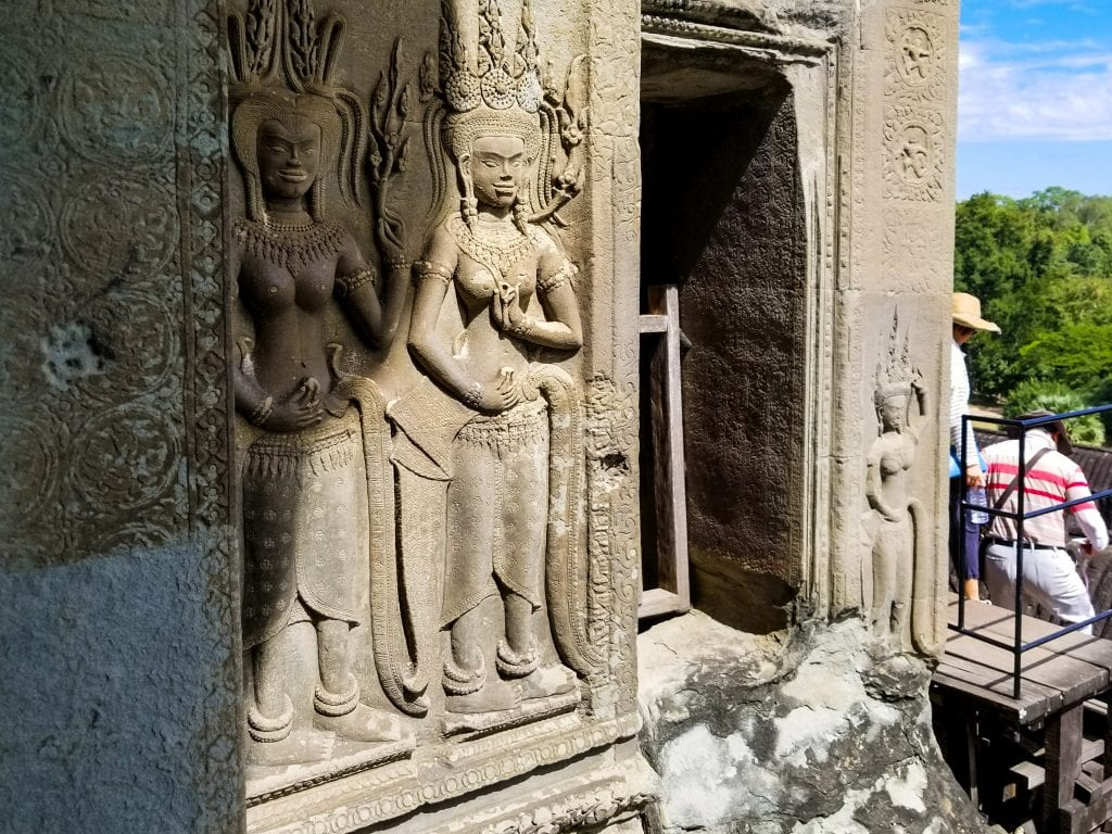 Sculpture on Angkor Wat Wall