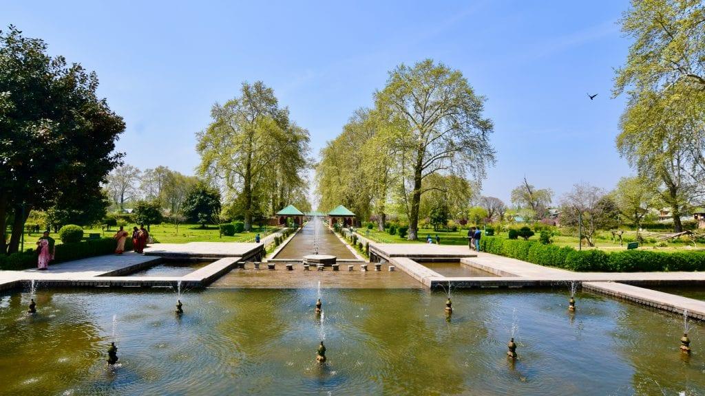 Shalimar Bagh Mughal Garden in Srinagar, Kashmir