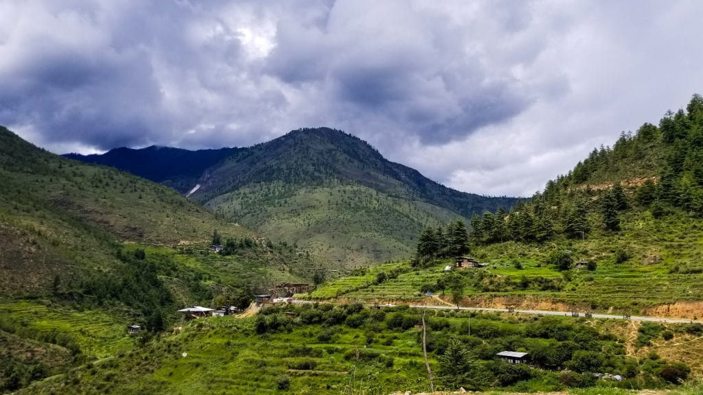 Small Houses in Paro Thimphu Highway
