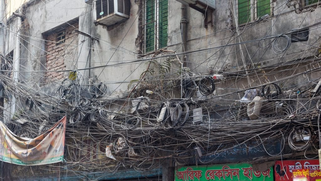 Tangled Cable Wires - Old Dhaka in Photos