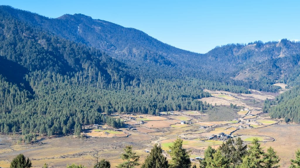 Top View Phobjikha Valley