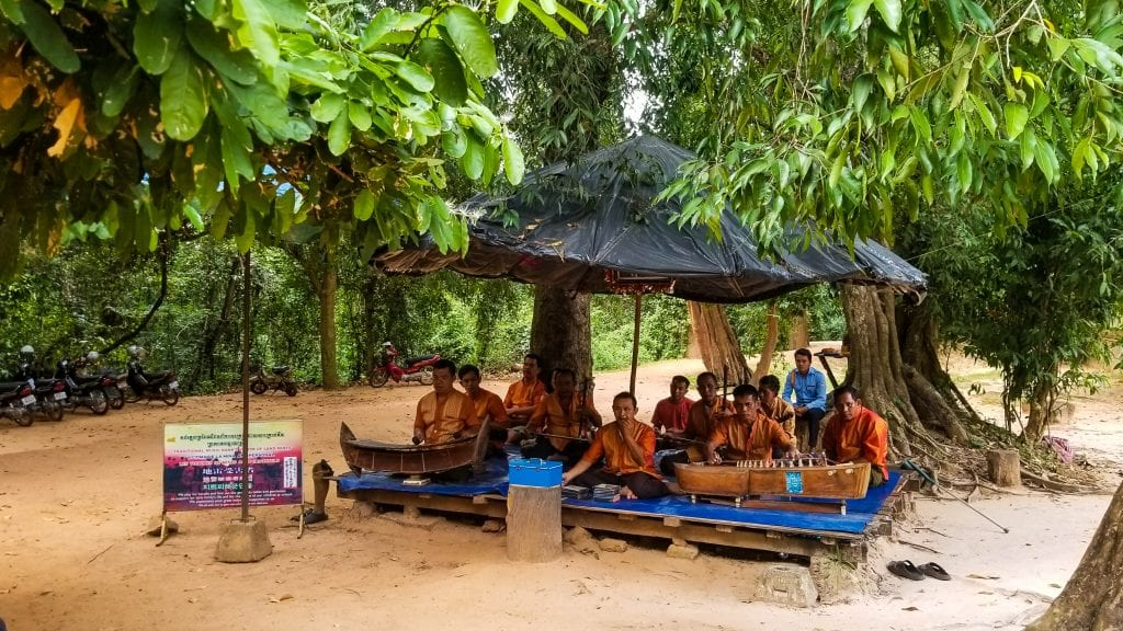 Traditional Music Playing In Cambodia