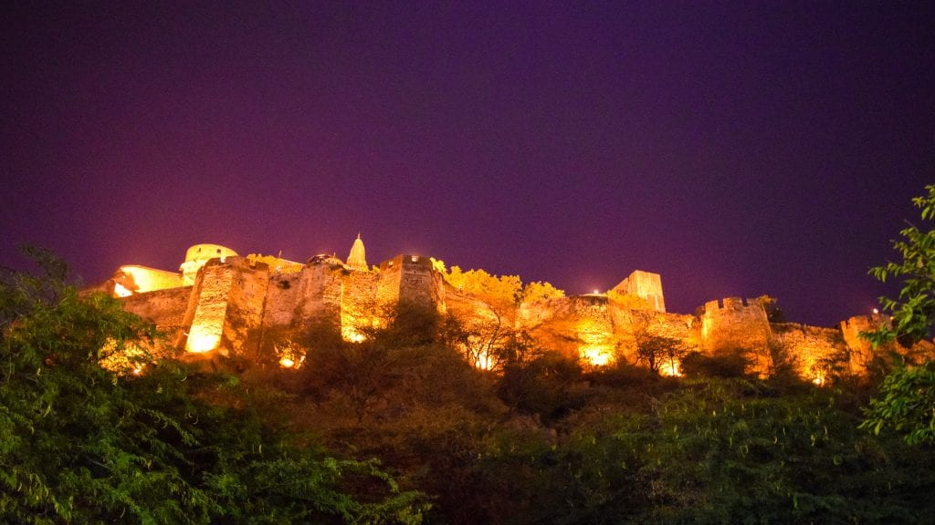 Amer Fort at Night - Places to visit in Jaipur