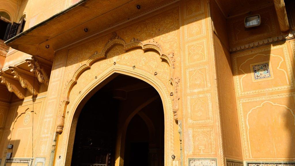 Beautiful door in Nahargarh Fort