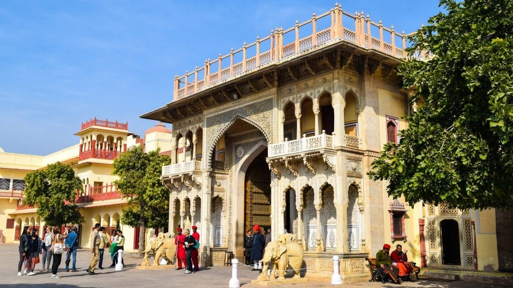 Entrance of City Palace in Jaipur