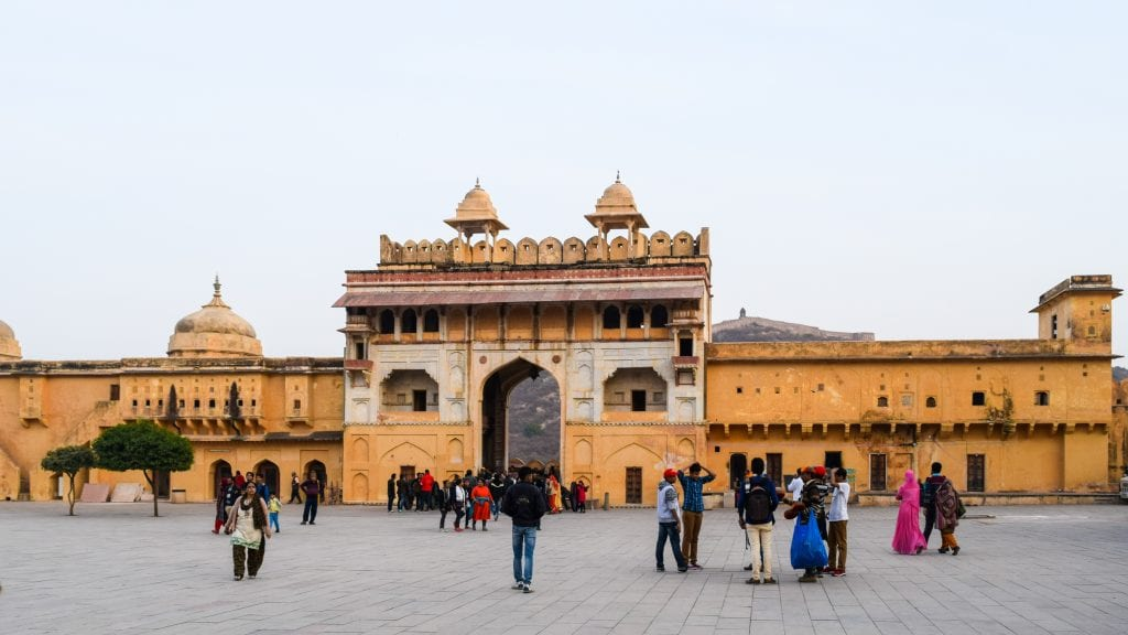 Gate of Amber Palace in Jaipur