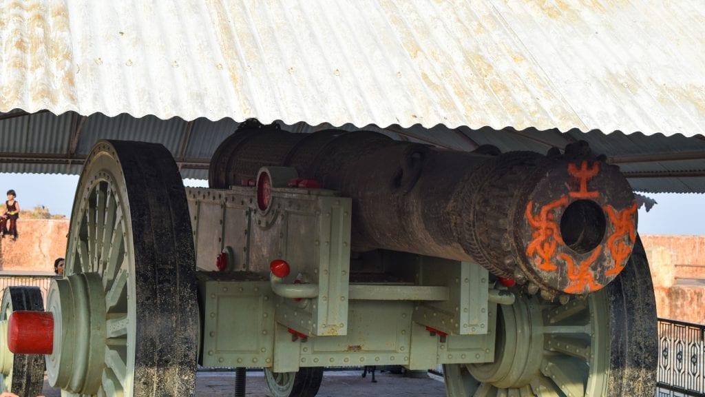 Jaivana Cannon inside Jaigarh Fort