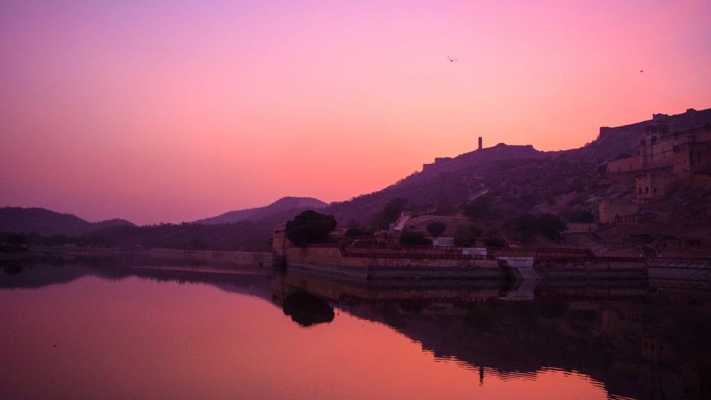 Maota Lake during Sunset