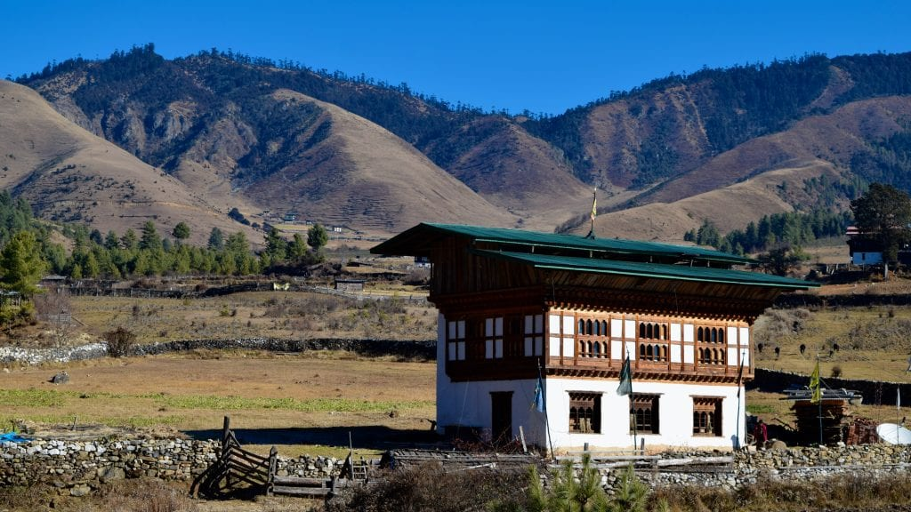 Typical House in Phobjikha Valley