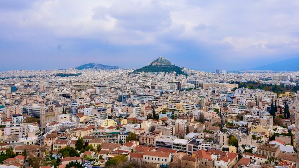 Panoramic View of Athens in Acropolis