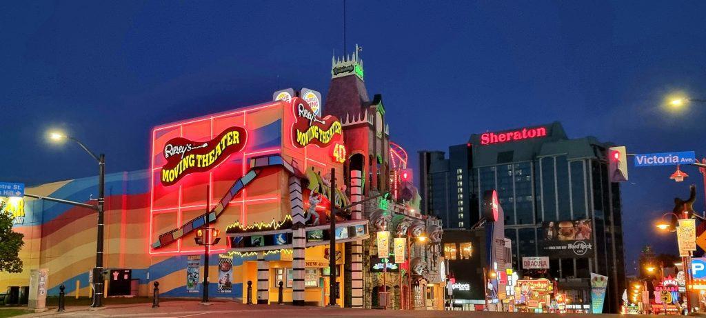 Niagara town at Night